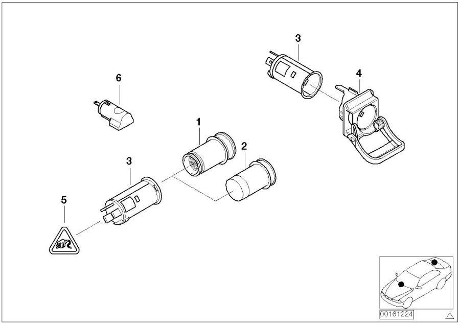 BMW M6 Plug-in socket. Lighter, Sockets, Cigarette, CIGAR