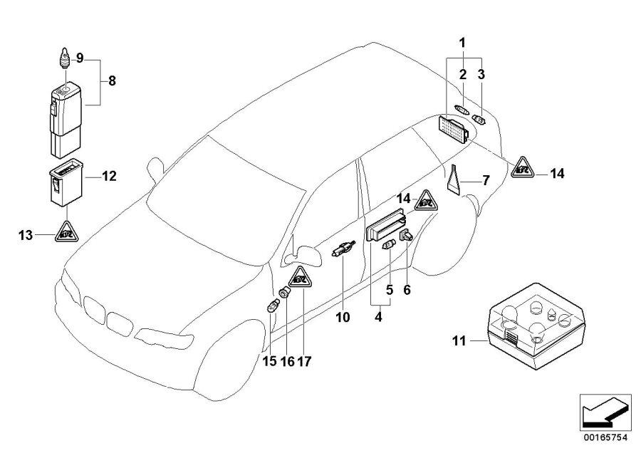 BMW X5 Light emitting diode, door handle. Lamps, Various