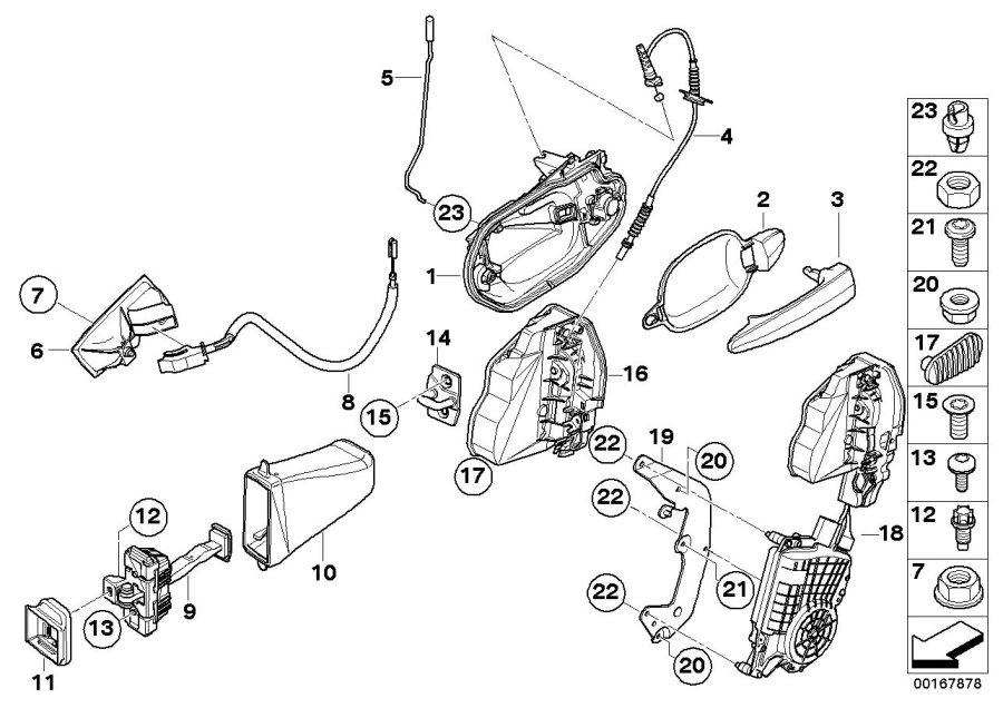 2003 BMW 530i Torx-countersunk head screw. ISA M8X28. Door