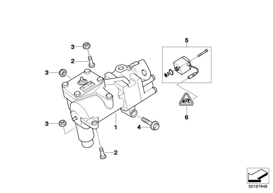 BMW 540iP Torque converter servotronic. Steering