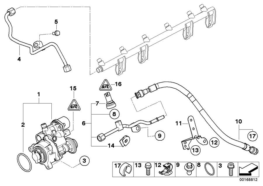 BMW 135i Exchange high-pressure pump. Fuel, System