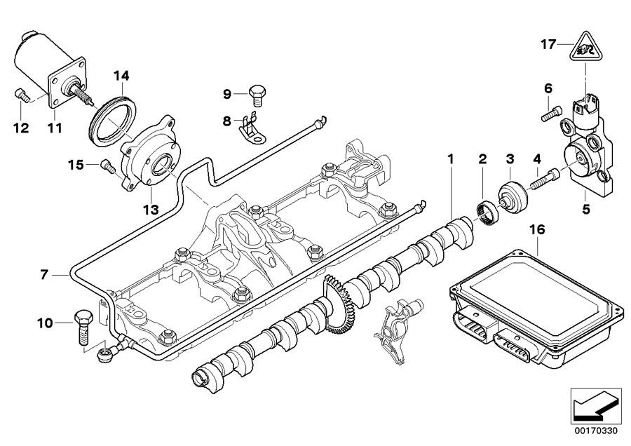 BMW 745i Eccentric shaft sensor. Valve, Gear, Timing