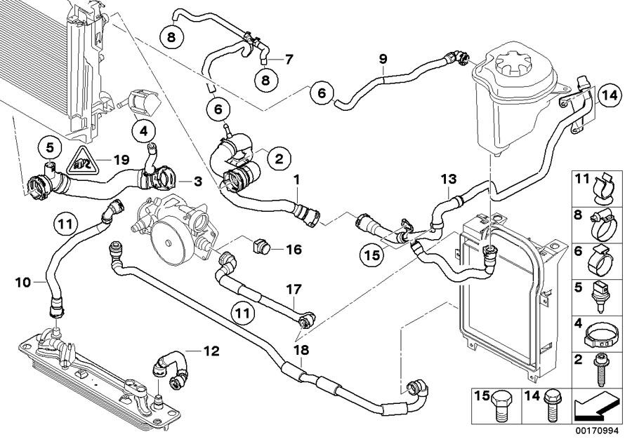2008 BMW X6 Coolant hose. Cooling, Hoses, System