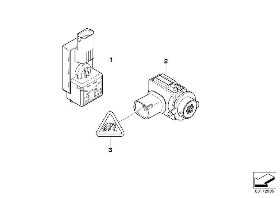 BMW 750Li Sensor f. Auc. Alpina, air, conditioning