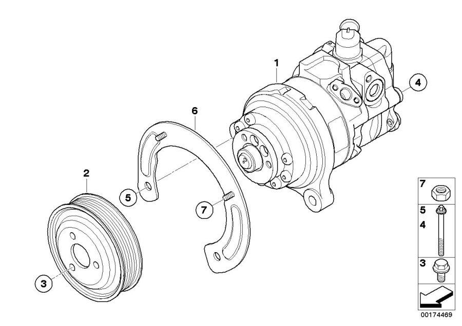 BMW X6 Tandem pump. Steering, Power, Suspension