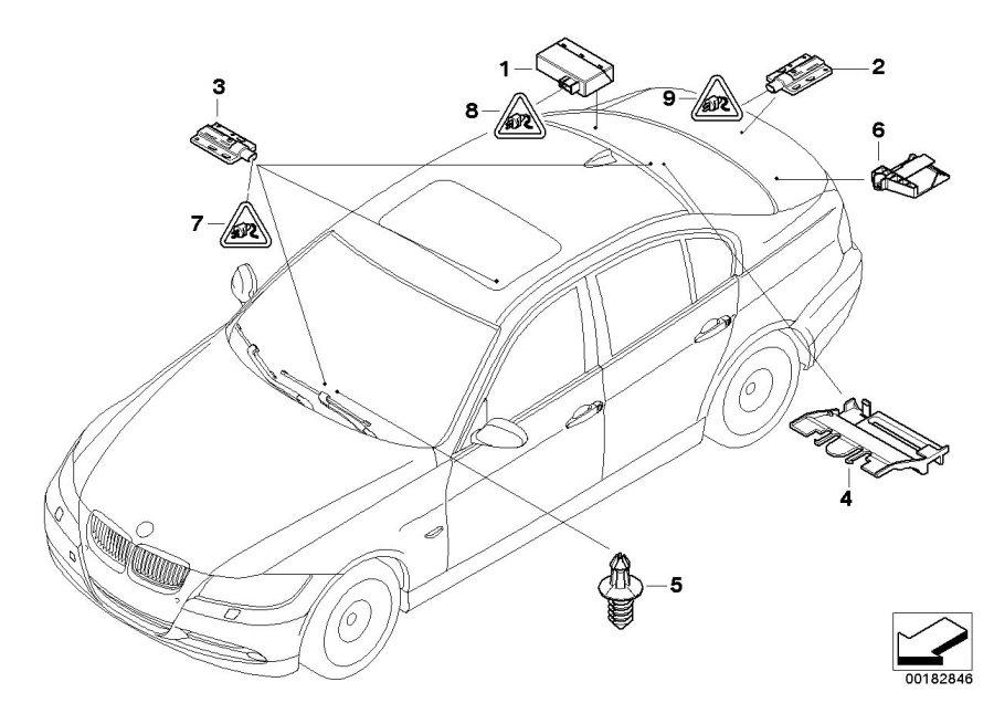 2014 BMW X1 Bumper antenna passive access. Control