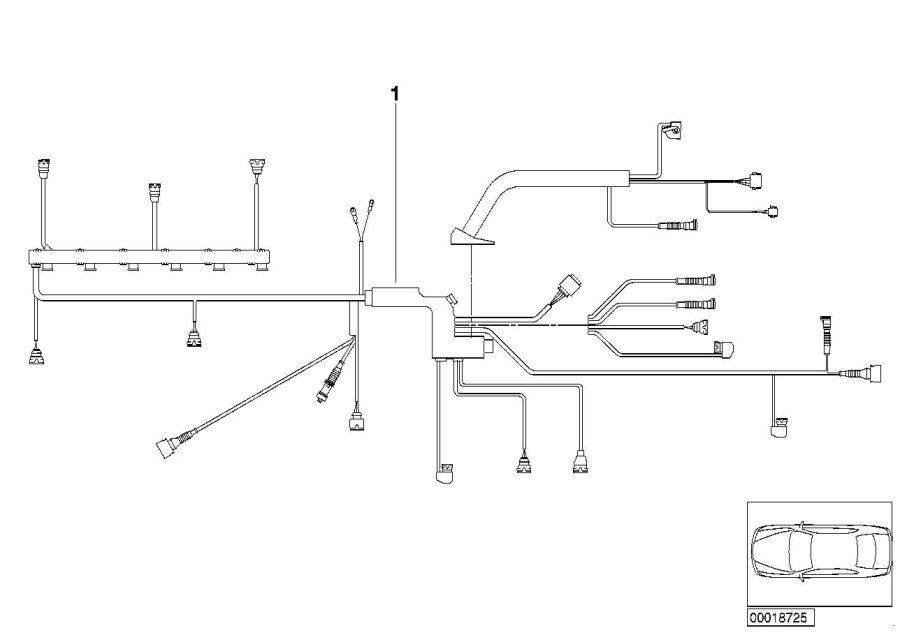 BMW X3 Engine wiring harness, engine module. System