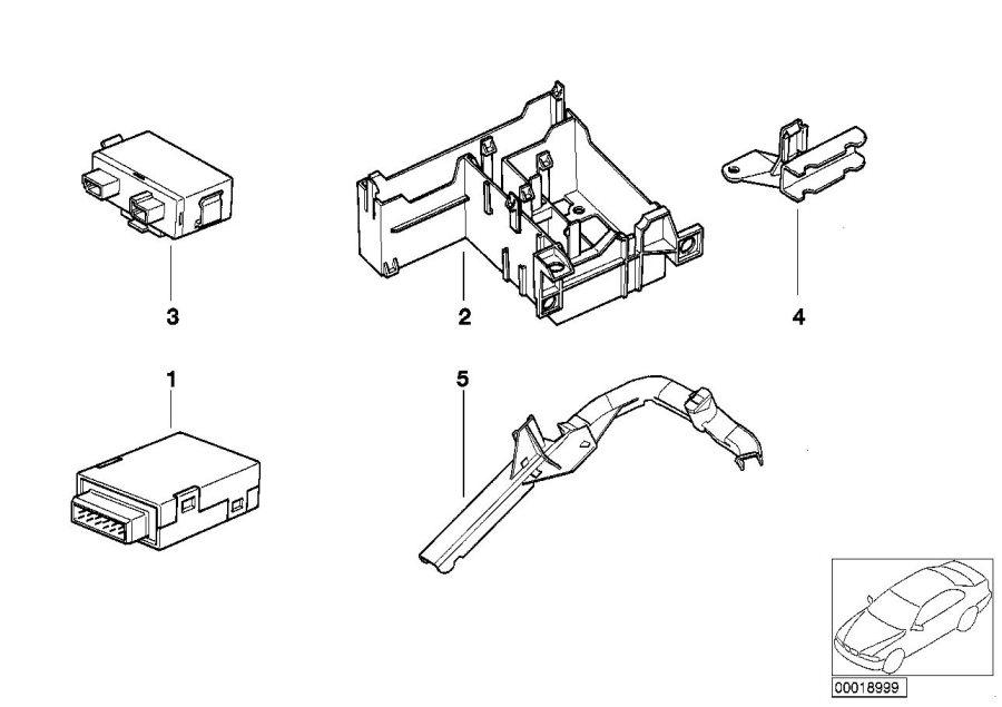 1998 BMW 323i Transmitter receiver module. Control
