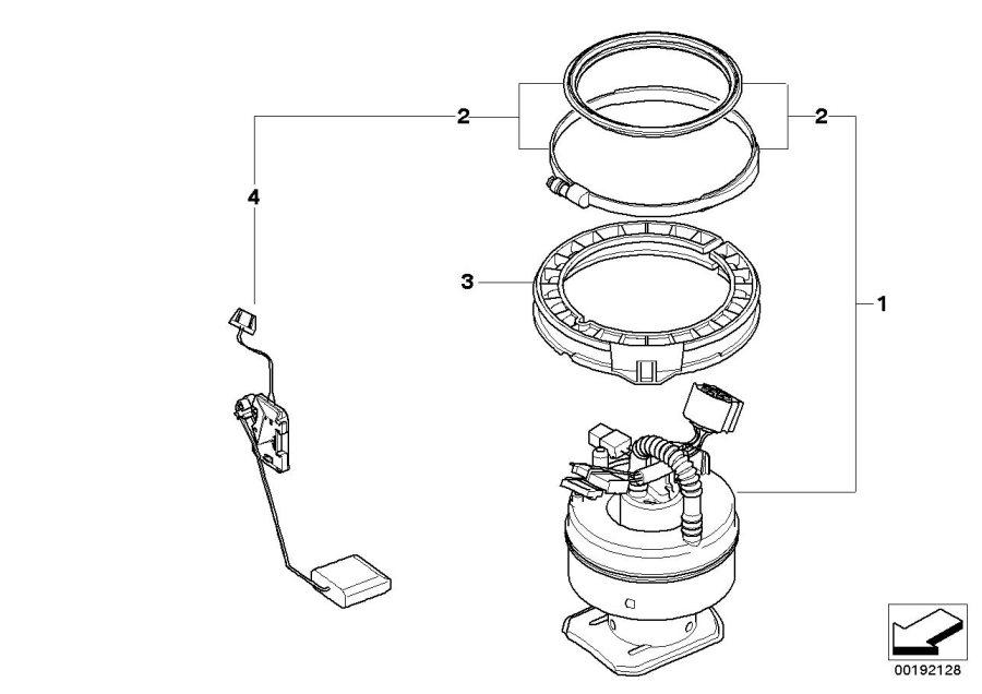 BMW 328i Right fuel level sensor. System, pump, filter