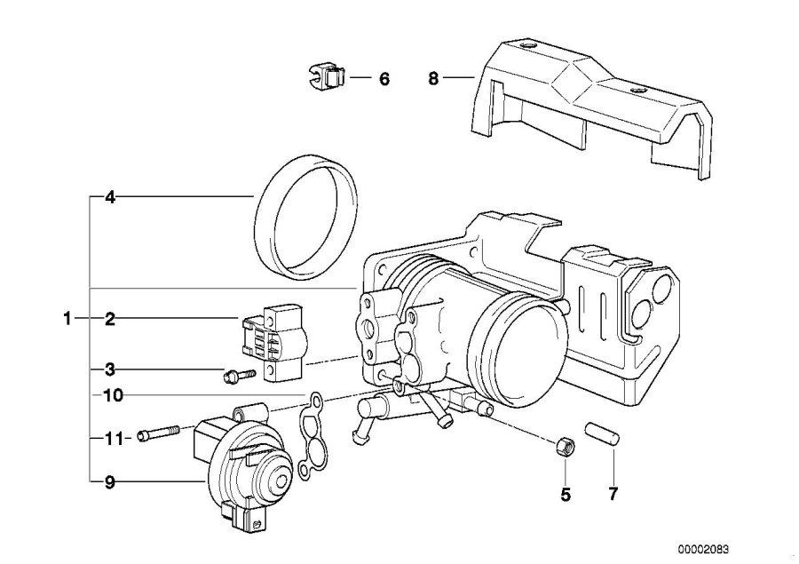 1998 BMW 318i Throttle valve switch. Operation