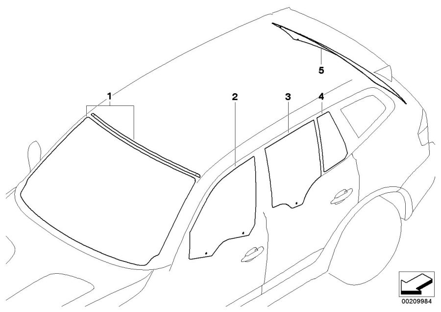 BMW X3 Installation element f wiper arm. Lamp, Head