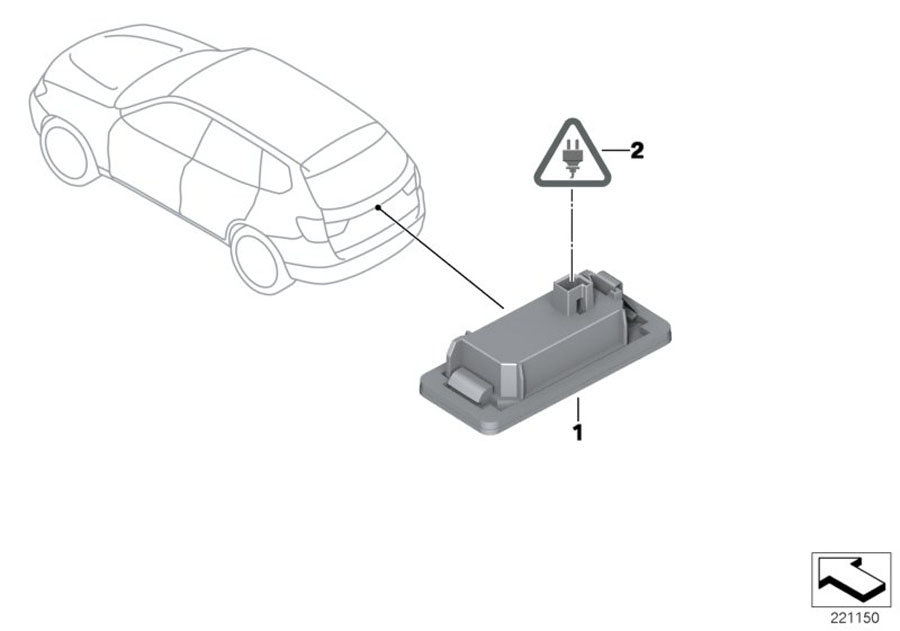 2015 BMW 320i Repair kit, socket housing. 2 POL. Number