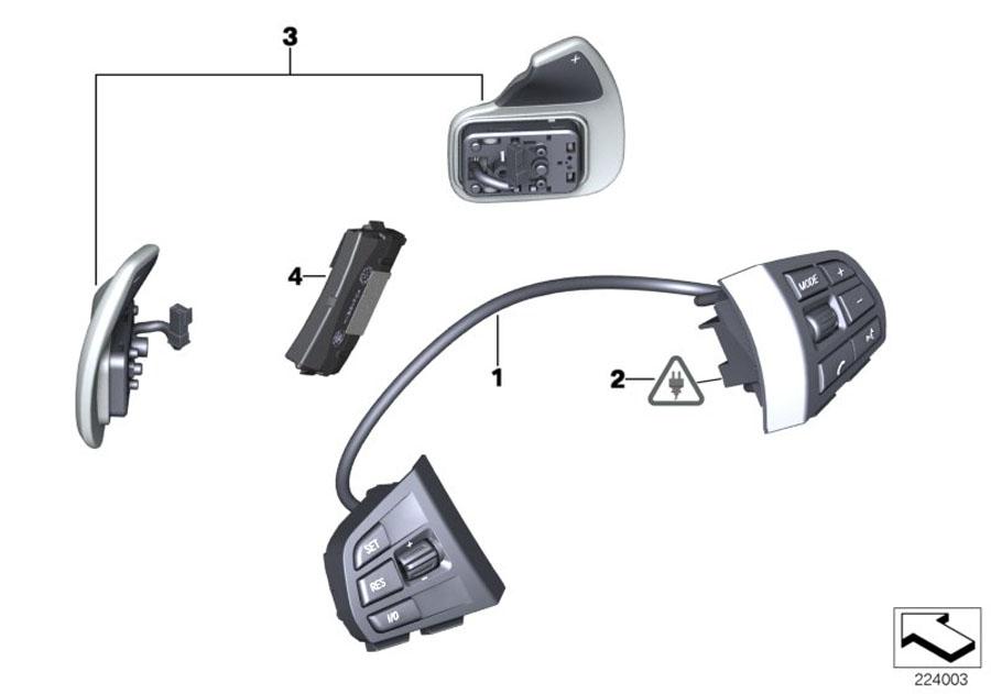 BMW X3 Control unit, steering wheel electronics. Yes