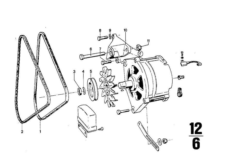 BMW 2500 Hex bolt. M10X80. Bavaria, Suspension, Damper