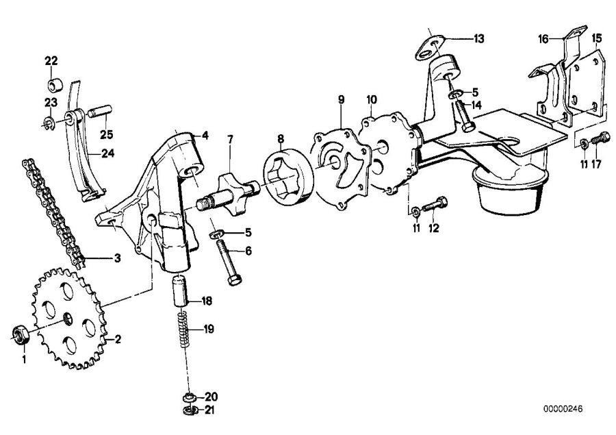 BMW 635CSi Oil pump. SYSTEM, Lubrication, Engine, Drive