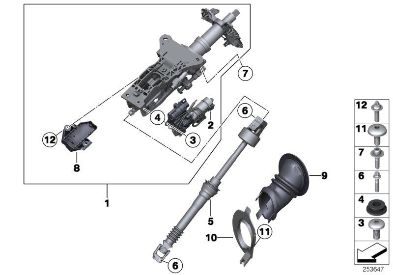 BMW 535i Torx bolt. M8X33. Steering, Column, Suspension