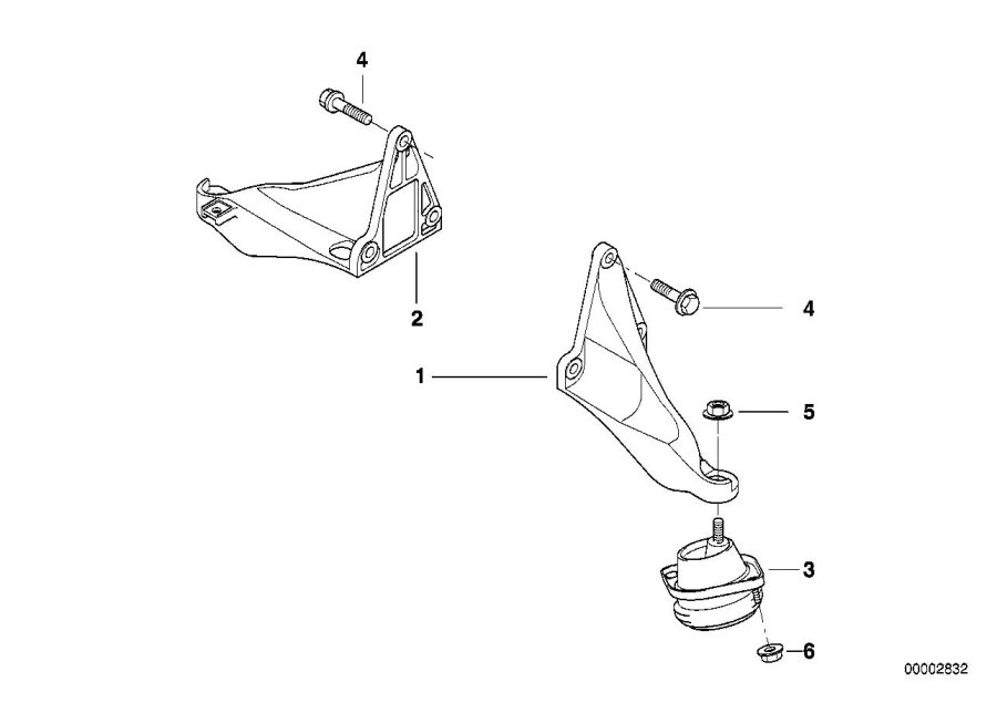 BMW 750iL Vibration damper. Engine, Suspension