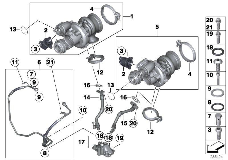 BMW 750iX Exch-turbo charger. Rid, Repair, Please