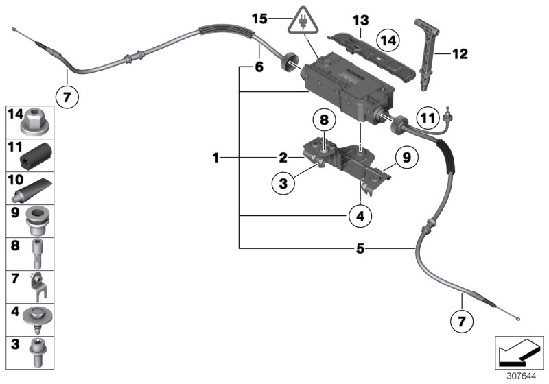 2014 BMW 750i Actuator with control unit. ALPINA
