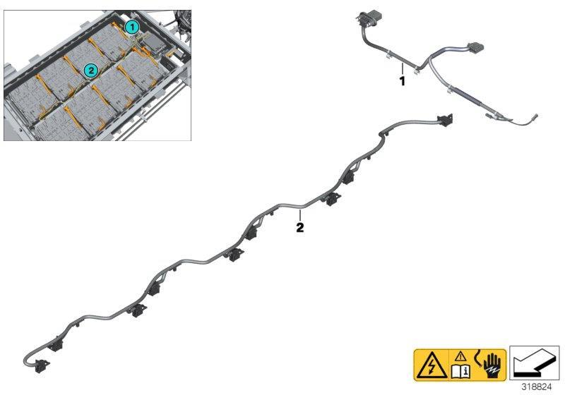 2020 BMW i3 120Ah Communications wiring harness. Battery