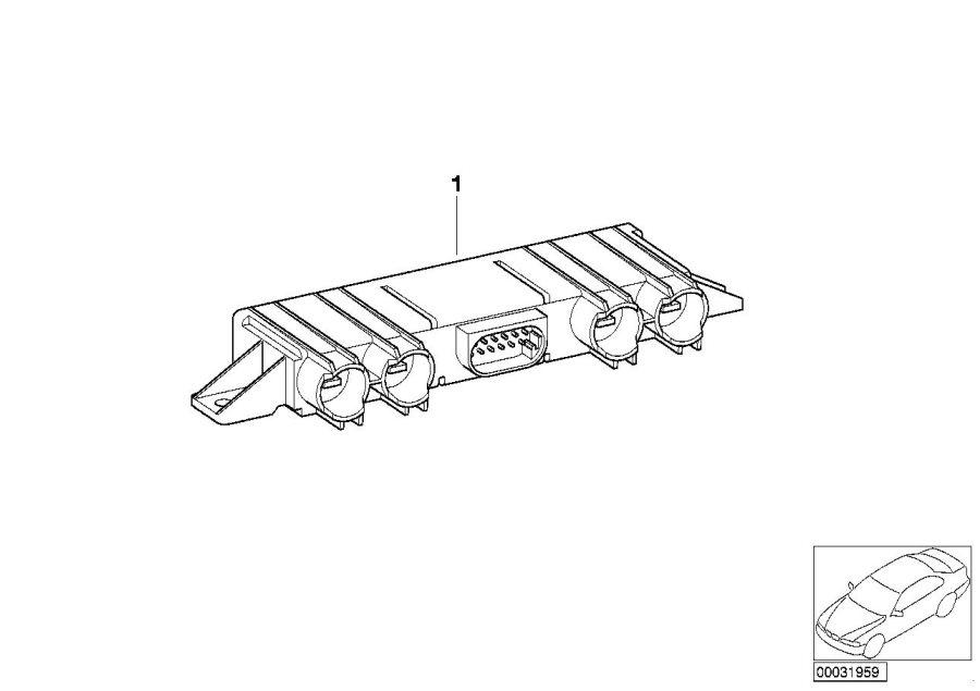 BMW 750iL Control unit f catalyst. Units, System