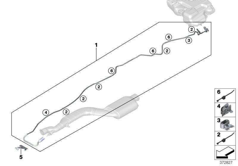 BMW X3 Metering line. Fuel, Tank, System, SCR