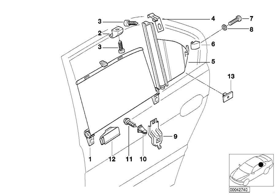 1999 BMW 750iLP Fillister head self-tapping screw. ST4
