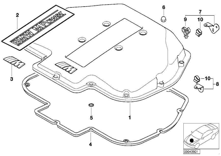 BMW M5 Lettering. BMW M POWER. Manifold, Intake