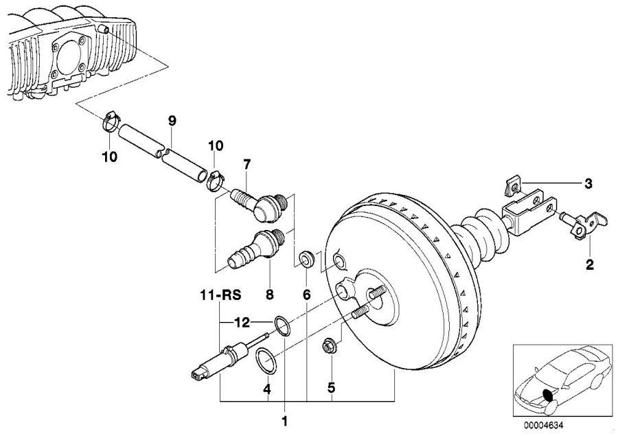1997 BMW 323i Brake master cylinder o-ring. Coupé, dsc