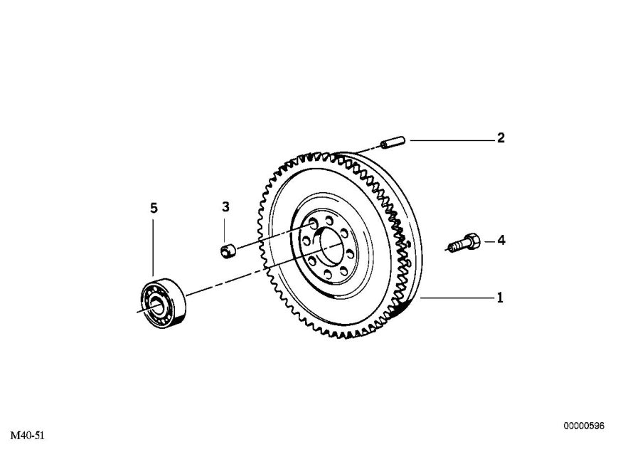 2002 BMW 325Ci Grooved ball bearing. 15x32x10