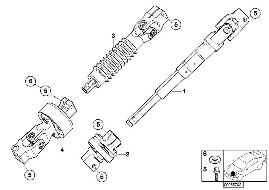 BMW 330xi Torx bolt. M8X33. Spindle, Mech, Manually, Man