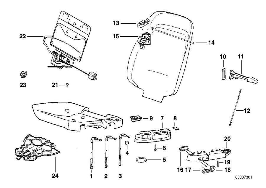 BMW 318is Sensor mat f co-driver's seat identif. Airbag