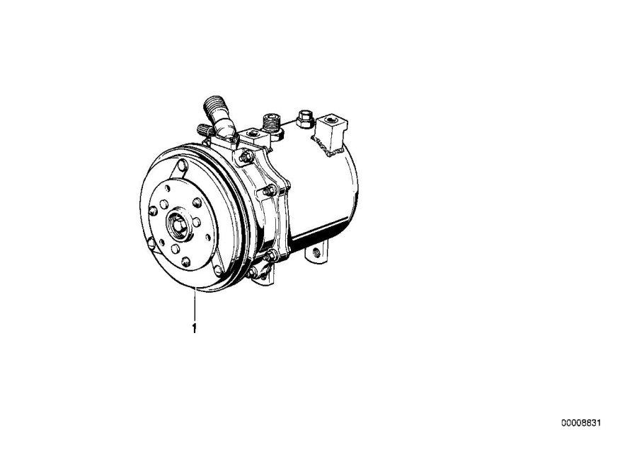 BMW 735i Rp air conditioning compressor. R134a