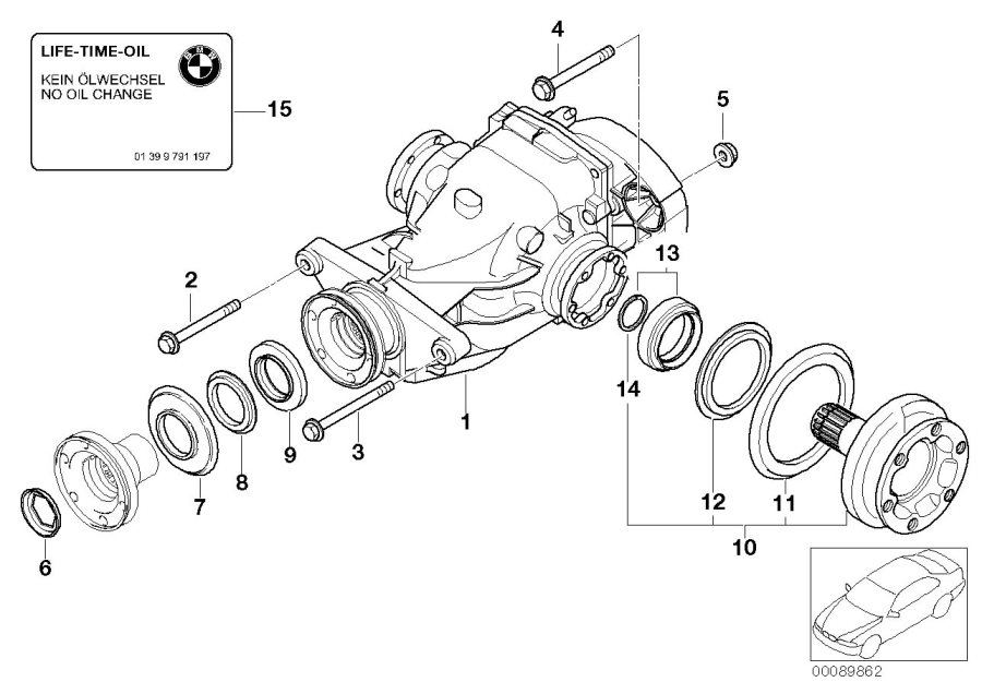 BMW 750i Dust plate, inner. D=60. Drive, OUTPUT, Rear