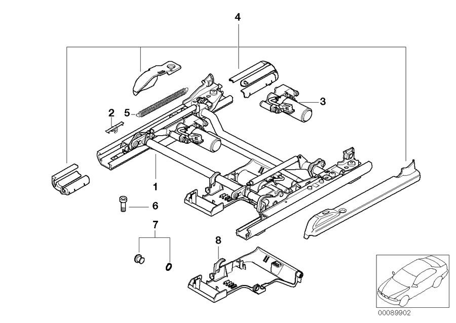 BMW 530i Drive f longitudinal and tilt adjustment. Front