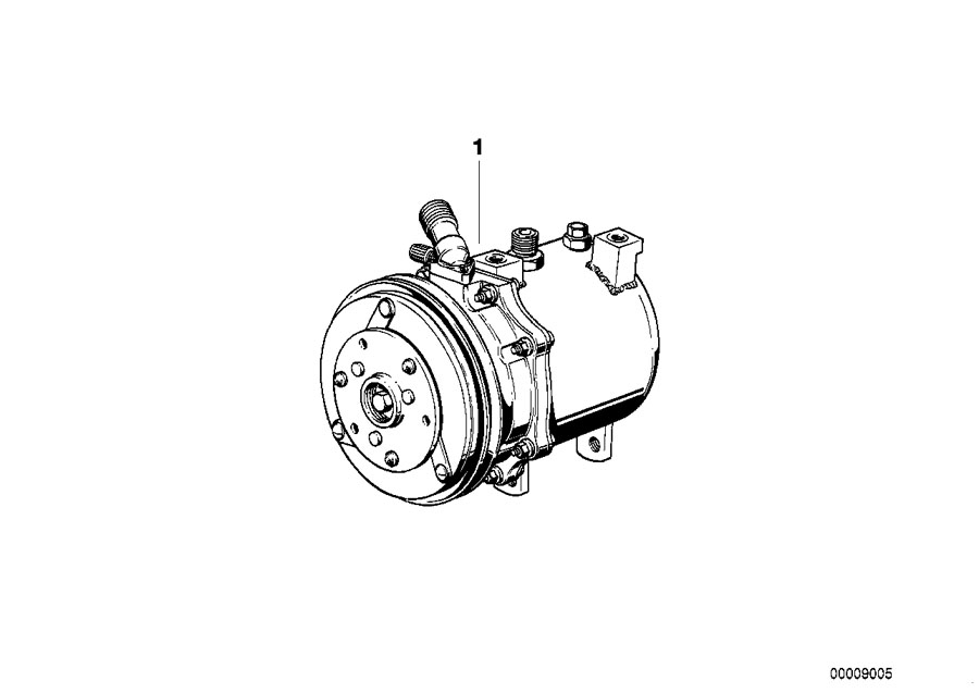 BMW 635CSi Exchange air conditioning compressor. R134A