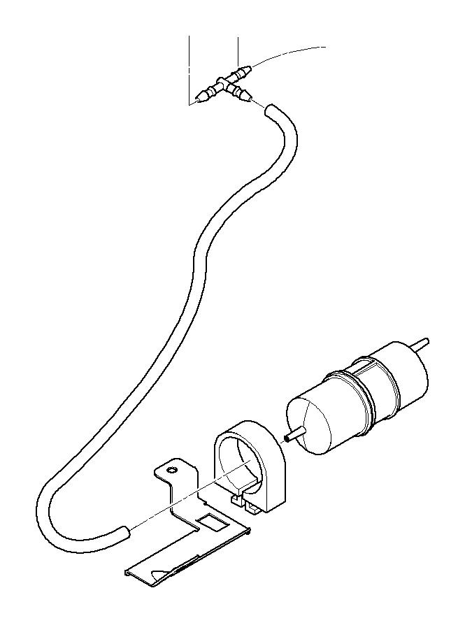 1997 BMW 318i Vacuum hose white. 3, 3x1, 8. Crankcase