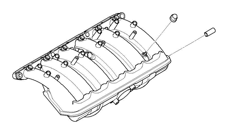 2002 BMW 320i Rubber Mounting. Intake, Manifold