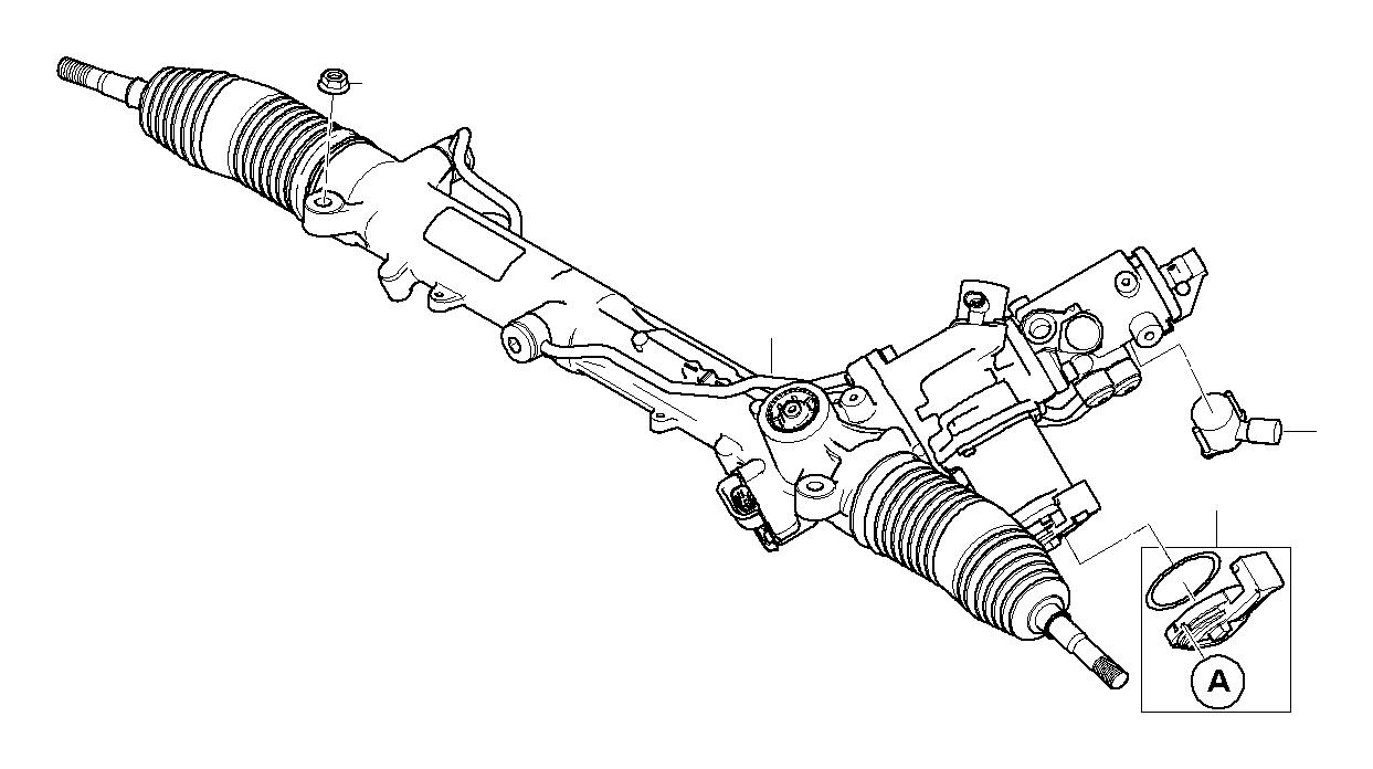 BMW 545i Torque converter servotronic. ZF. Steering, Box
