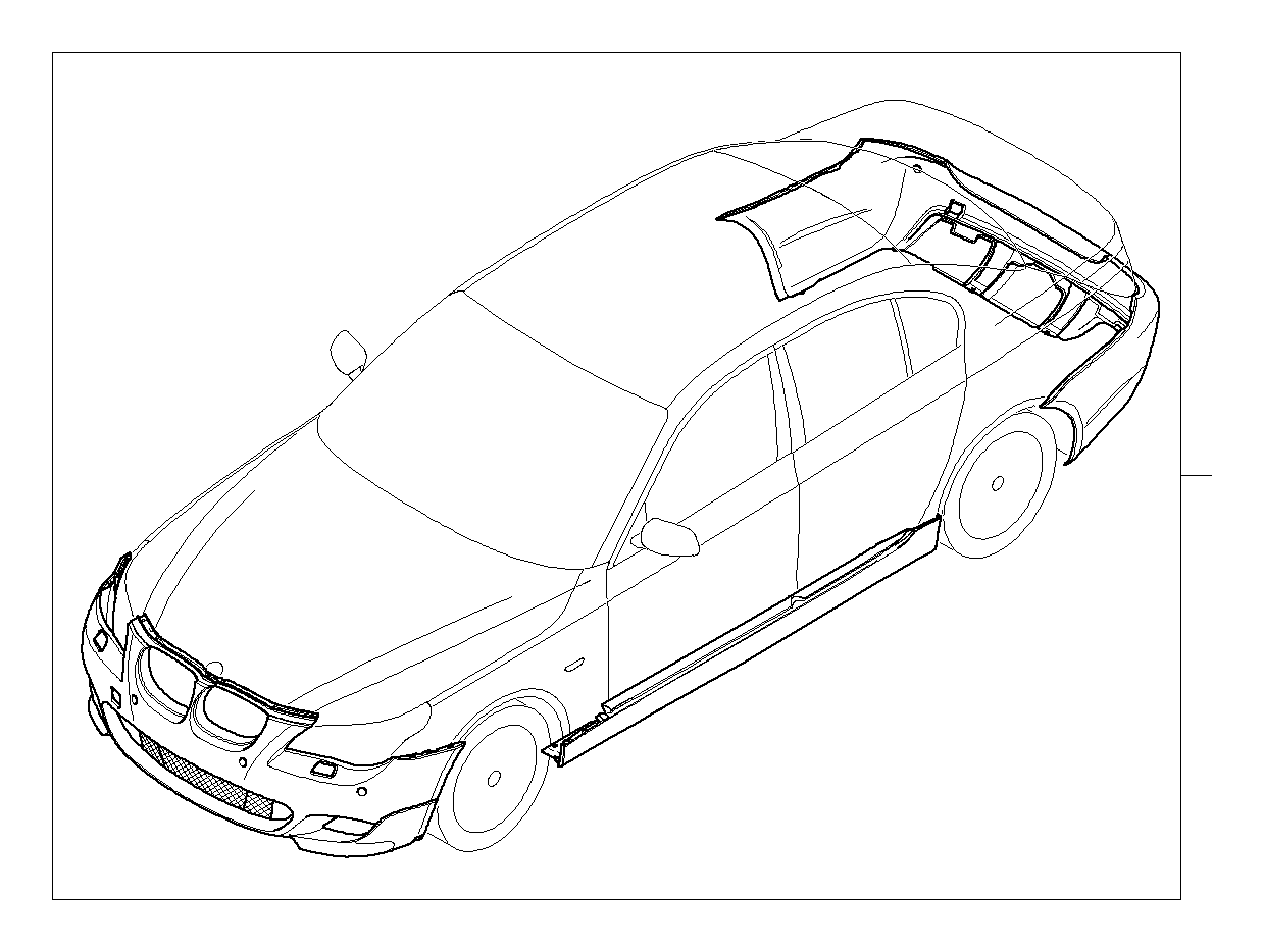 BMW 530i Retrofit kit M aerodyn.package, prim. PDC