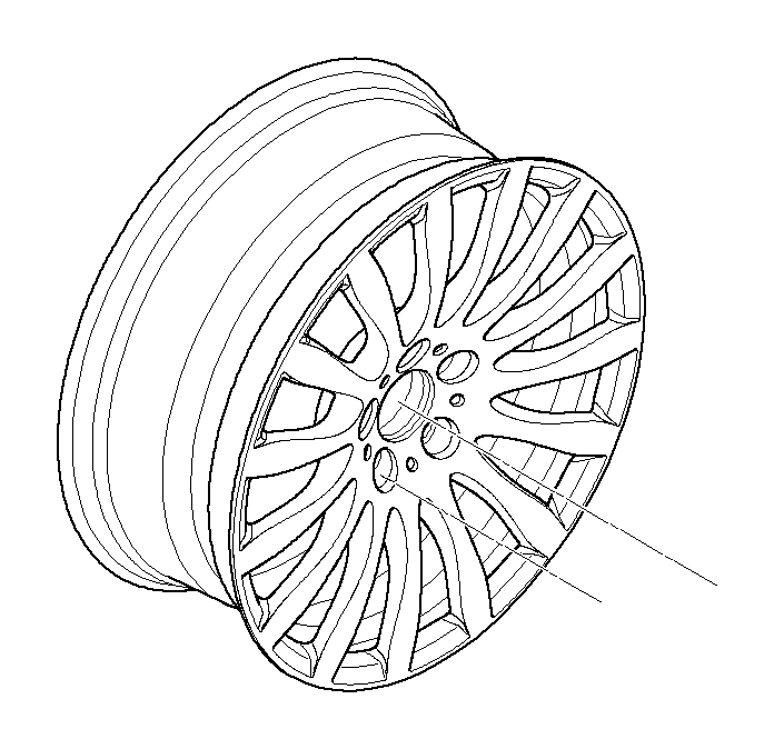 BMW 328xi Disc wheel, light alloy, bright-turned. 9JX19 ET