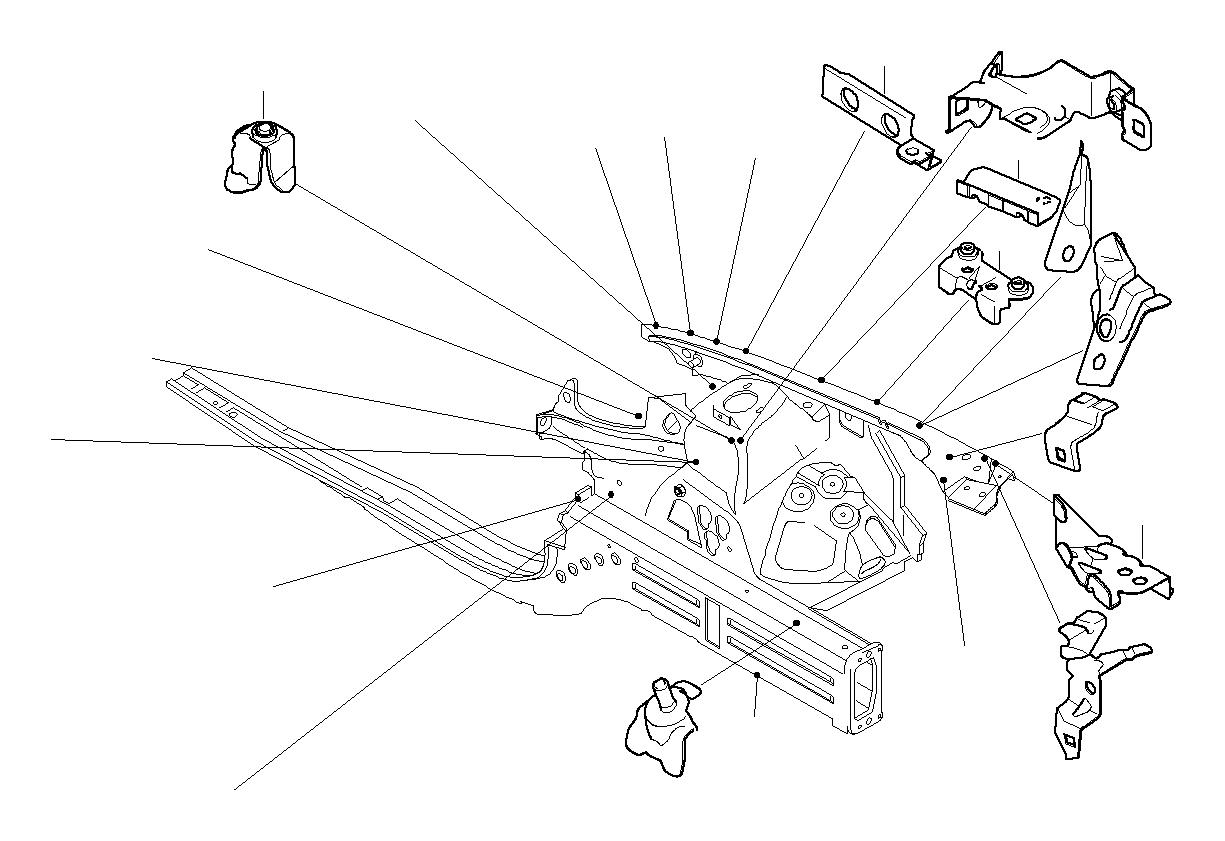 Bmw M3 Holder Edc Sensor Body Front