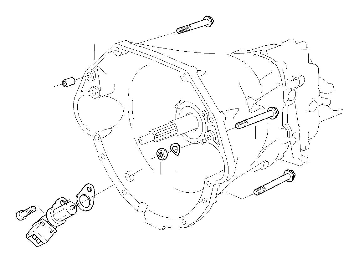 BMW 540iP Intermediate plate. Mounting, transmission