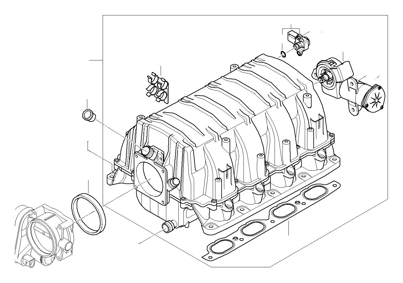BMW X3 Differential pressure sensor. Engine, Manifold