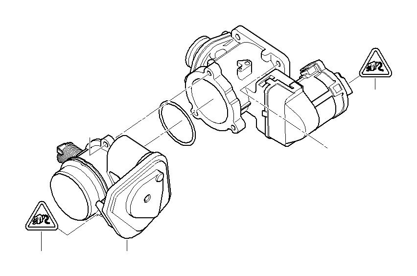 2011 BMW Egr-valve. Manifold, intake, engine, electric