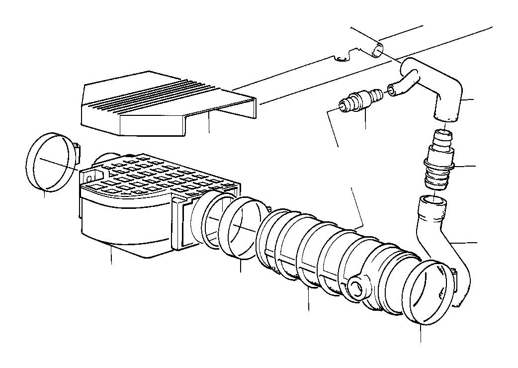 BMW 535i Exch-mass air flow sensor. Volume, system, fuel