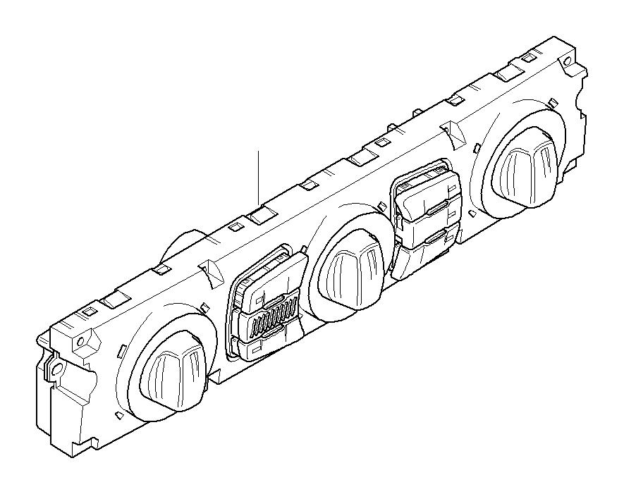 BMW 530xi Control unit, automatic air cond., Basis
