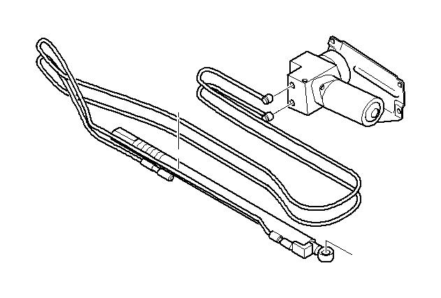 BMW 530xi Hydraulic cylinder. Lid, Trunk, Trim, Body