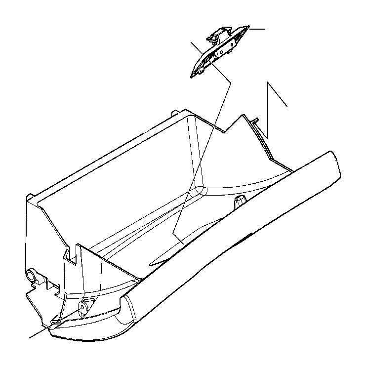 2002 BMW 320i Glove box lock upper part. Schwarz