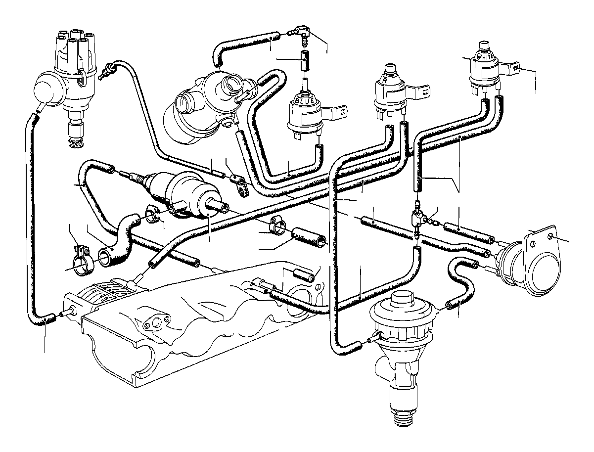 1997 BMW 318i Vacuum hose white. 3, 3x1, 8. Vacum